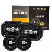 Alto Falante Kit Facil Bravox Black 6x9 + 6