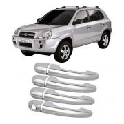 Capa Aplique Maçaneta Hyundai Tucson 2004 Até 2016 4 Peças
