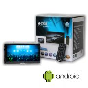 """Central Multimidia 7"""" Android H-Tech HT-8020TV Com Espelhamento"""