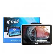 Encosto de Cabeça H-Tech 8 Polegadas Bluetooth Usb Aux Sd Acoplável