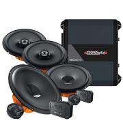 Kit Hertz Dsk 165.3 +Kit Coaxial Hertz Dcx 165.3 +Amplificador Sd 400.4