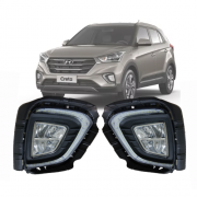 Kit Farol de Milha Hyundai Creta 2020 com DRL