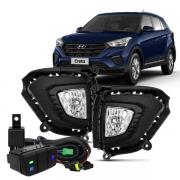 Kit Farol de Milha Hyundai Creta 2020 com Moldura/Botão Original