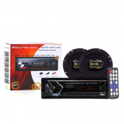 Kit Radio Bluetooth + Alto Falante 6 Polegadas