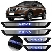 Kit Soleira Metálica C/ LED - Renault KICKS 2017