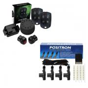 Kit Trava Elétrica Positron TR420 e Alarme Positron Cyber