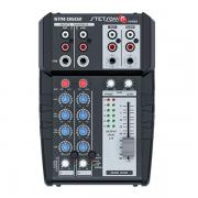 Mesa de Som Stetsom STM0602 2 Canais AUX/P10 4 Bandas de Equalização