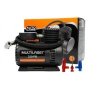 Mini Compressor Automotivo Multilaser 12v Au601 Carro Moto