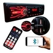 Radio Mp3 Bluetooh Pendrive 1 Din First Option Visor 7 Cores