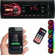 Radio Mp3 Bluetooh Pendrive USB 1 Din First Option 7 Cores