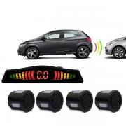 Sensor De Re Estacionamento 4 Pontos Universal Com Display