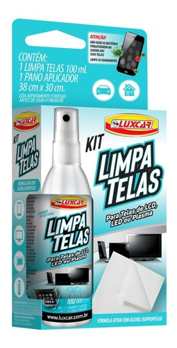 25 Limpa Telas Luxcar 100 Ml Notebook Pc Mata Bactéria Vírus