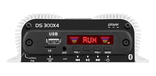 Amplificador Taramps Ds300 X2 300w 4 Canais Modulo Potencia