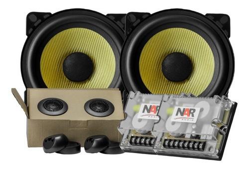 "Kit Componente Duas Vias Nar Audio 4"" Kevlar Serie 3 55 wrms"