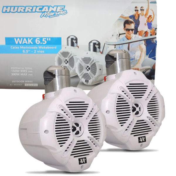 "Alto Falante 6.5"" Wakeboard Hurricane 150W Rms"