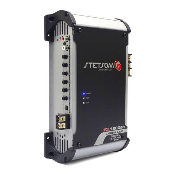 Amplificador Stetsom Com Equalizador Ex 1200EQ 1 Ohm 1 Canal