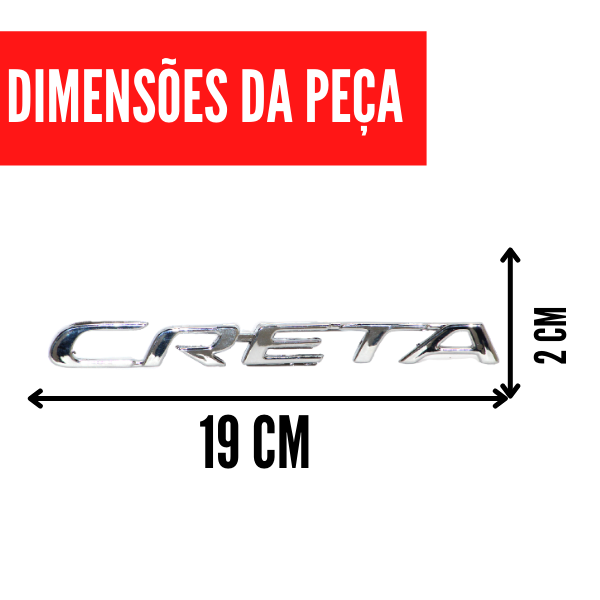 Aplique Emblema Logo Traseiro Creta