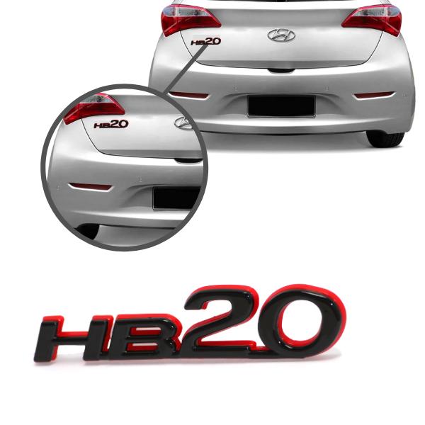 Aplique Emblema Logo Traseiro Hb20