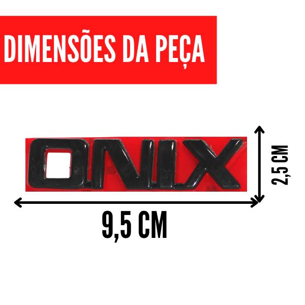 Aplique Emblema Logo Traseiro Onix