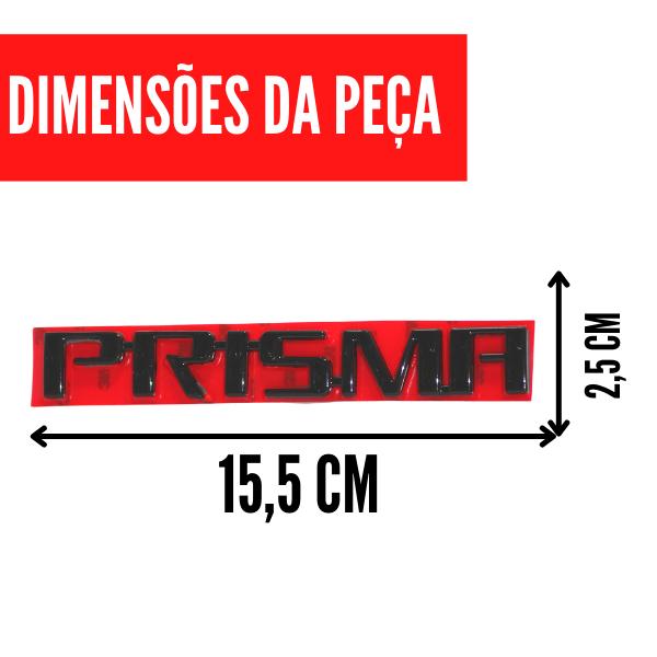 Aplique Emblema Logo Traseiro Prisma