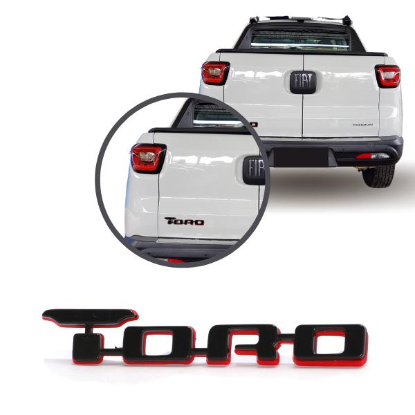 Aplique Emblema Logo Traseiro Toro