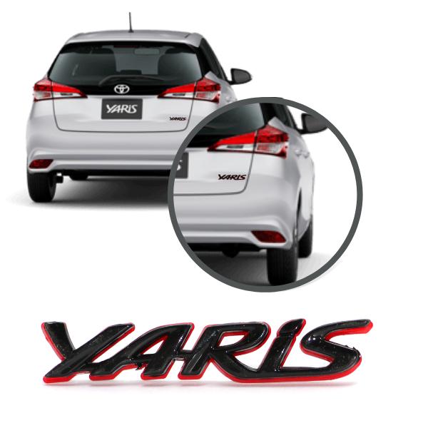Aplique Emblema Logo Traseiro Yaris