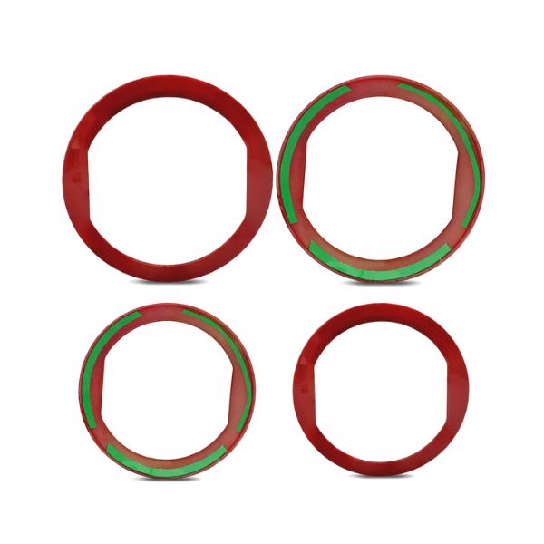 Aplique Vermelho Entrada de Ar Uno 2012 a 2014