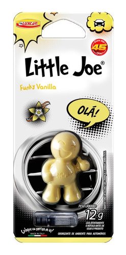 Aromatizante Cheirinho Little Joe Funky Vanila Luxcar Itália