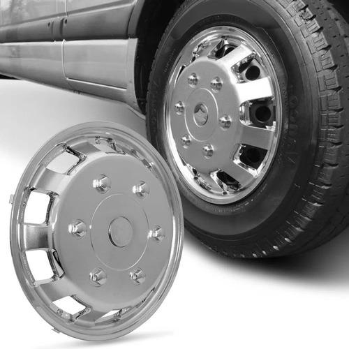 Calota Esportiva Aro 16 Universal Para Vans Cromado Unidade