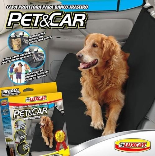 Capa Pet Impermeável Petcar Luxcar Lavável Banco Trás Carro