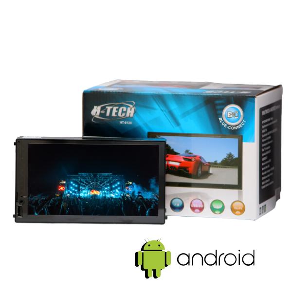 """Central Multimidia 7"""" Android 10 H-Tech HT-6120 Com Espelhamento"""