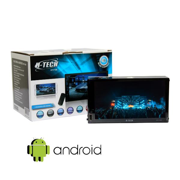 """Central Multimidia 7"""" Android H-Tech HT-7120 Com Espelhamento"""