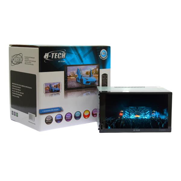 "Central Multimidia 7"" Mp5 H-tech HT-3120X com Espelhamento"