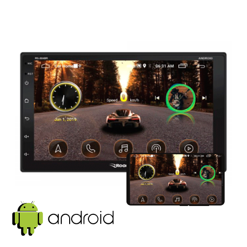 "Central Multimidia Roadstar Android 7"" Com Espelhamento"