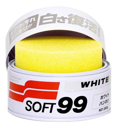 Cera Automotiva Soft99 White Cleaner 350g Para Carros Branco