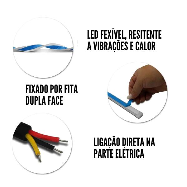 Fita LED Farol JR8 Flexível 45CM Dual Color