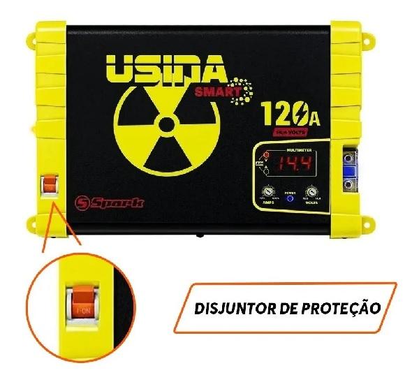 Fonte Automotiva Usina Spark 120a 12v Multimeter Bivolt