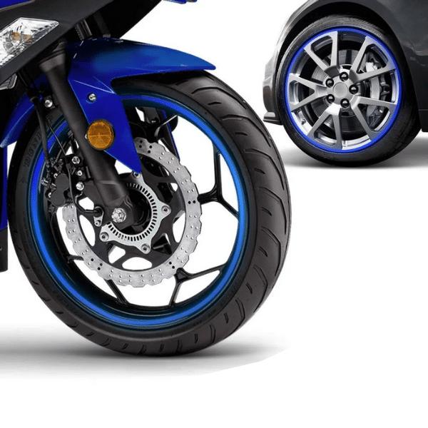 Friso Adesivo para Rodas Universal Carro/Moto 7mm