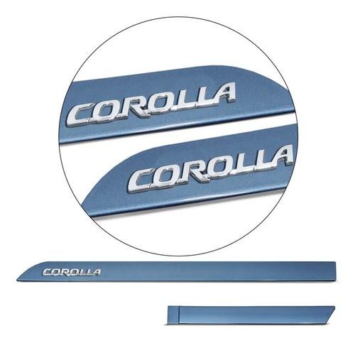 Friso Lateral Corolla 08 2021 Cinza Celestial Grafia Cromada