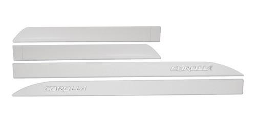 Friso Lateral Corolla 2015 2021 Branco Perola Grafia Cromada