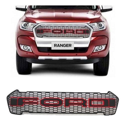 Grade Dianteira Ford Ranger Raptor 2016 2020 Preta Vermelho