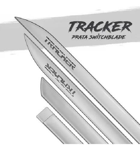 Jogo De Friso Lateral Tracker 2021 Prata Switchblade Cromado