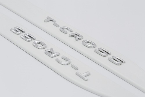 Jogo Friso Lateral T-Cross 2020 Branco Puro Grafia Cromada