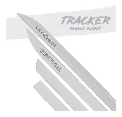Jogo Friso Lateral Tracker 2020 2021 Branco Summit Cromado