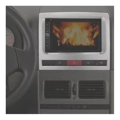 Moldura Painel Dvd Central Multimídia 2din Pálio Prata Ap516
