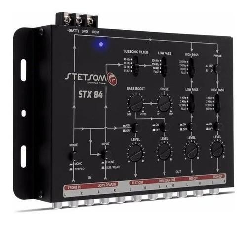 Processador Crossover Stetsom Stx84 Mesa Som Com 4 Vias