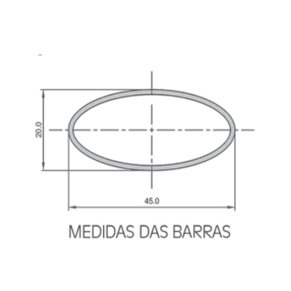 Rack de Teto Travessa +suporte Eqmax Aço Kit 9/Kit 992
