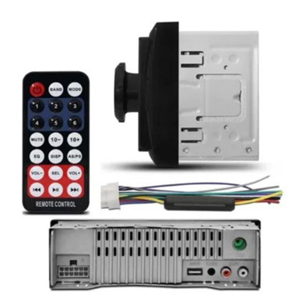 RADIO MP3 BLUETOOH PENDRIVE USB 1 DIN 7 CORES 4X50W 5566TS