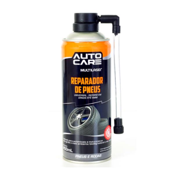 Reparador Instantâneo Inflador de Pneu Spray Multilaser AU400 Tapa Furo