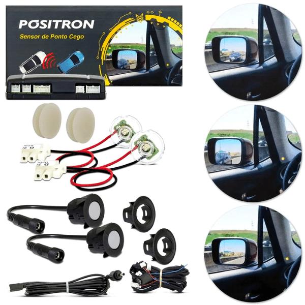 Sensor de Ponto Cego Universal Pósitron SA200 Com Alerta Visual em LED